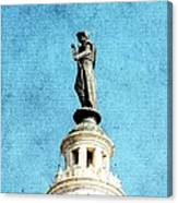 Watching Over The Plaza Canvas Print