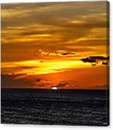 Watching The Sun Set In Barbados  Canvas Print
