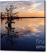 Watching The Sunset At Ba Steinhagen Lake Martin Dies Jr. State Park - Jasper East Texas Canvas Print