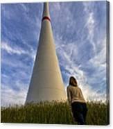 Watching Wind Power Canvas Print