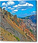 Watchman Overlook In Crater Lake National Park-oregon Canvas Print