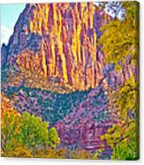 Watchman's Peak In Zion National Park-utah Canvas Print