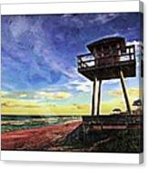 Watchtower On The Beach Canvas Print