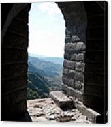 Watchtower Window View From The Great Wall 637 Canvas Print