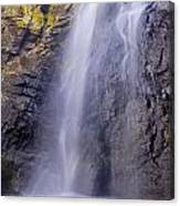Watefall At The Mountains Canvas Print
