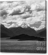 Water---snow---clouds 2 Canvas Print