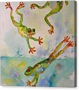 Water Aerobics Canvas Print