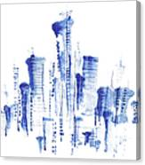Water-and-ink Cityscape Canvas Print