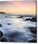 Water And The Sunset Canvas Print