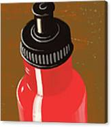 Water Bottle Illustration Canvas Print