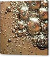 Water Bubbles Abstraction Canvas Print
