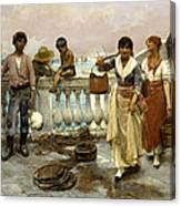 Water Carriers. Venice Canvas Print