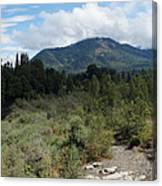 Water-carved Base Rock And Mt Baldy Canvas Print