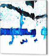 Water Dance - Blue And White Art By Sharon Cummings Canvas Print