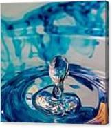 Water Drop In Blu Canvas Print
