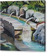 Water Fall In The Gratto Canvas Print