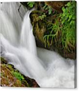 Water Flowing Over Rocks  Hawick Canvas Print