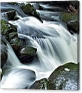 Water Flowsthrough The Mountains Canvas Print