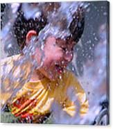 Water Fountain Joy Three Canvas Print