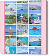 Water Island Poster Canvas Print
