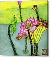 Water Lilies  Chinese Watercolor Art Canvas Print