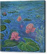 Water Lilies Lounge 2 Canvas Print