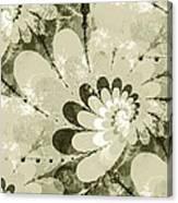 Water Lilies Spirals Canvas Print