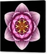Water Lily X Flower Mandala Canvas Print