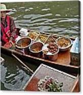 Water Market Thailand 1 Canvas Print