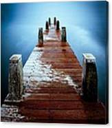 Water On The Jetty Canvas Print