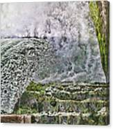Water Over A Dam Canvas Print