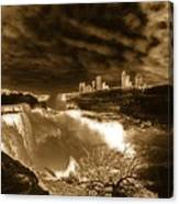 The Mighty Power Of The Falls Canvas Print