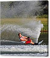 Water Skiing 10 Canvas Print