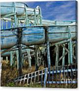 Water Slide At Dowdy's Amusement Park Canvas Print