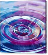 Water Splash Rings Canvas Print