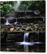 Water Steps In Fairmount Park Canvas Print