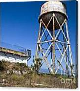 Water Tower Alcatraz Island Canvas Print