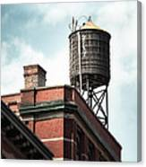 Water Tower In New York City - New York Water Tower 13 Canvas Print