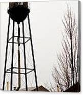 Water Tower In River Rouge Canvas Print