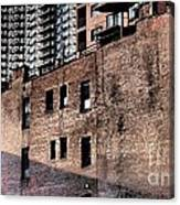 Water Tower With Cityscape Canvas Print