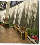 Water Wall - Aria Resort Las Vegas Canvas Print