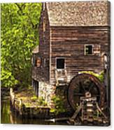 Water Wheel At Philipsburg Manor Mill House Canvas Print