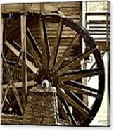 Water Wheel At The Grist Mill Canvas Print
