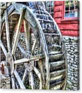 Water Wheel On Mill Canvas Print