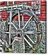 Water Wheel On Mill V2 Canvas Print