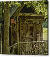 Water Wheel Shed I Canvas Print