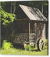Water Wheel Shed Canvas Print
