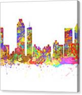 Watercolor Art Print Of The Skyline Of Atlanta Georgia Usa Canvas Print