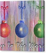 Watercolor Christmas Bulbs Canvas Print