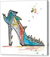 Watercolor Fashion Illustration Art Canvas Print
